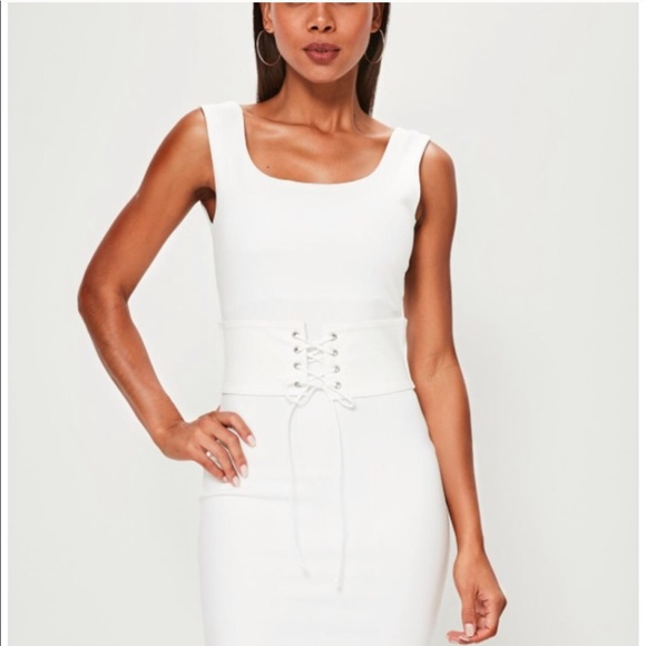 sports shoes new list buy cheap Missguided Dresses   White Dress Corset Sexy Size Small   Poshmark